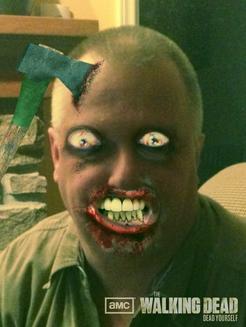 Jeff Stevens, as a Zombie.