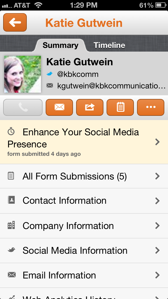 HubSpot app screenshot