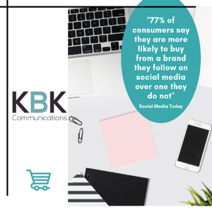 _77% of consumers say they are more likely to buy from a brand they follow on social media over one they do not_